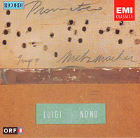 cd cover Luigi Nono, Prometeo